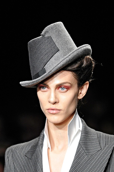 Donna Karan FW12 Grey Tilted Hat on Exshoesme.com