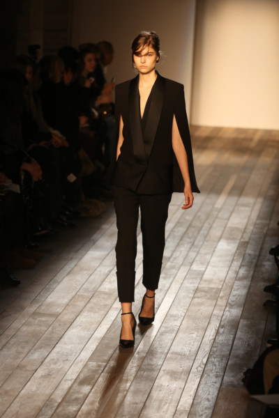 Victoria Beckham Cape and Capri Suit on Exshoesme.com