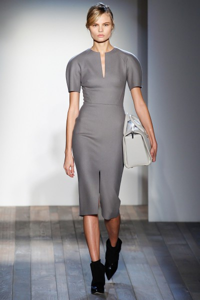 Victoria Beckham FW13 taupe dress on Exshoesme.com