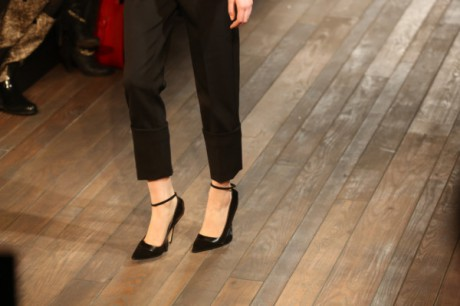 Victoria Beckham cuffed capris and ankle-strap pumps on Exshoesme.com