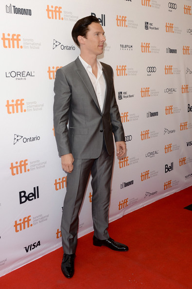 Benedict Cumberbatch at the 12 Years a Slave Premiere at the 2013 Toronto International Film Festival #TIFF13 on Exshoesme.com Jason Merritt photo