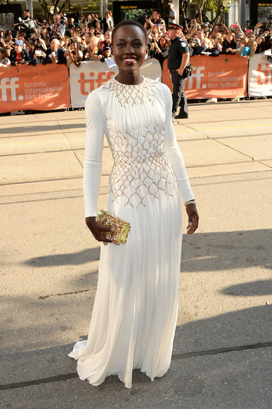 Lupita Nyong'o in Prada at the premiere of 12 Years a Slave at the 2013 Toronto International Film Festival #TIFF13 on Exshoesme.com. Jason Merritt photo