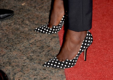Lupita Nyong'o shoe shot at the InStyle party at the 2013 Toronto International Film Festival #TIFF13 on Exshoesme.com. Alberto E. Rodriguez photo