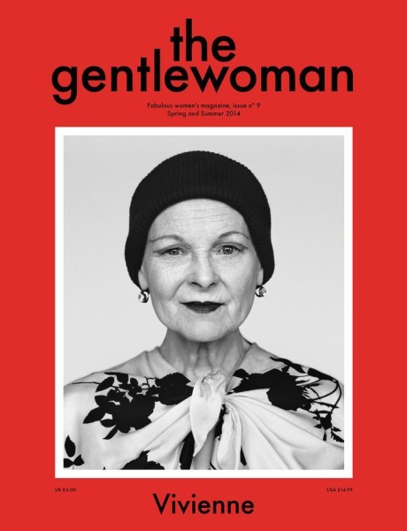 Vivienne Westwood on the cover of The Gentlewoman, Spring Summer 2014 Issue on Exshoesme.com.