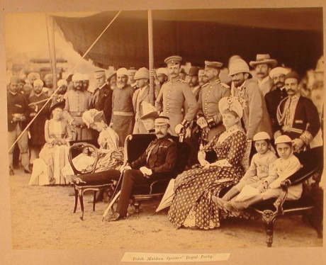 3.Duke of Connaught and Royal Party Watching Sports at Fateh Maidan , January 1889, Raja Deen Dayal