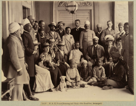6. His Royal Highness Prince Damrong and Party after Breakfast, Asmangarh; 1892, Raja Deen Dayal