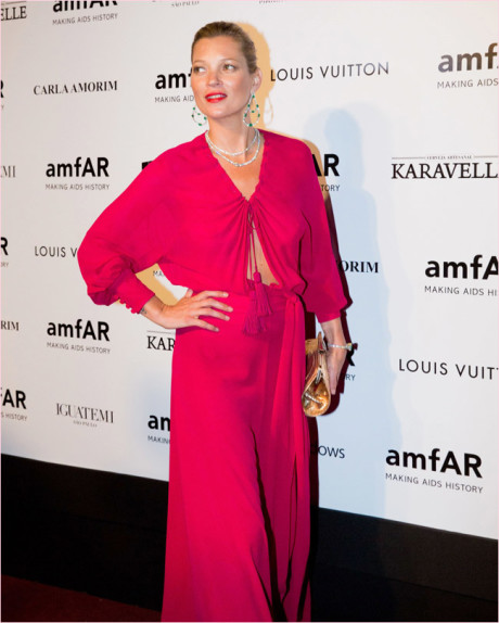 Kate Moss at the amfAR Gala April 2014 on Exshoesme.com Getty Images South America