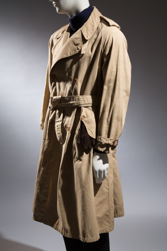 London House Founder Gennaro Rubinacci, Tailor Vincenzo Attolini Trench coat Wool 1930s, Italy Collection of the Rubinacci Museum